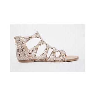 Steve Madden Comly Snakeskin Print Sandals Shoes